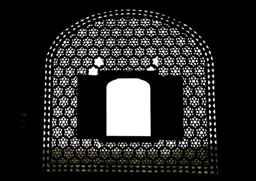 Jali window in Jaigarh fort, Rajasthan, Amer, India