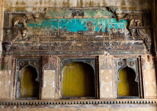 Taragarh fort destroyed murals, Rajasthan, Bundi, India