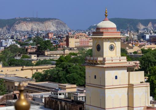 City palace clock tower, Rajasthan, Jaipur, India