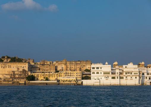 Historic building alongside lake Pichola, Rajasthan, Udaipur, India