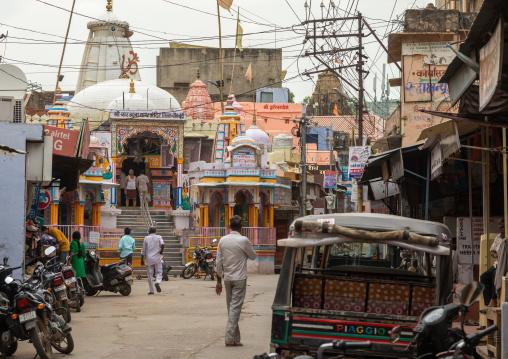 Street in the city center, Rajasthan, Bundi, India