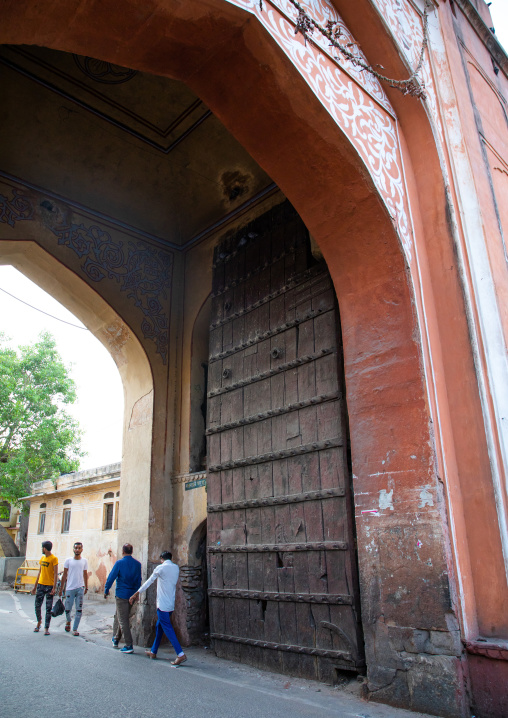 Huge archway in the city center, Rajasthan, Jaipur, India