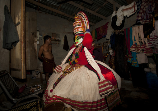 Backstage With Kathakali Dancers In Fort Kochin, India
