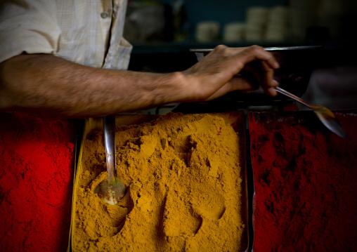 Powders On A Market, Mysore, South India