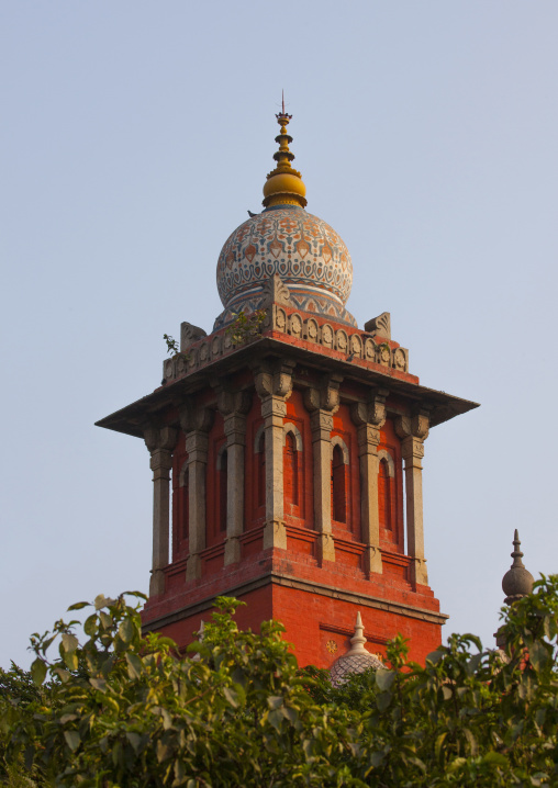 One Tower Of The Madras High Court Of Judicature In Chennai, India