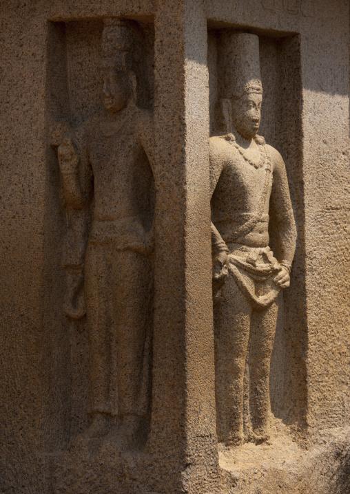 Cut Rock Carvings Of Arjuna's Penance At Mahabalipuram, India