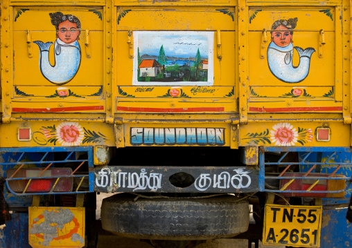Decorated Back Of A Truck In South India, Kanadukathan Chettinad