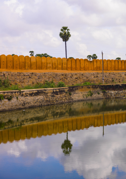 Carved Stone Block On The Wall Of The Tirumayam Fort, Tirumayam, India