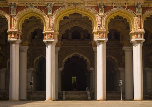 View From The Inner Courtyard Of The Thirumalai Nayak Palace In Madurai, India