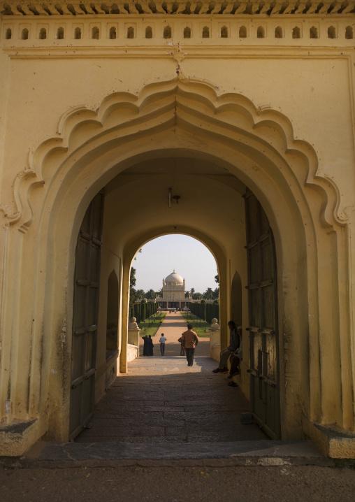 Entrance Of The Gumbaz, Mausoleum Of The Muslim Sultan Tipu And His Relatives, Srirangapatna, India