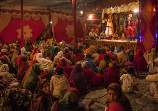 Traditionnal Play In Maha Kumbh Mela, Allahabad, India