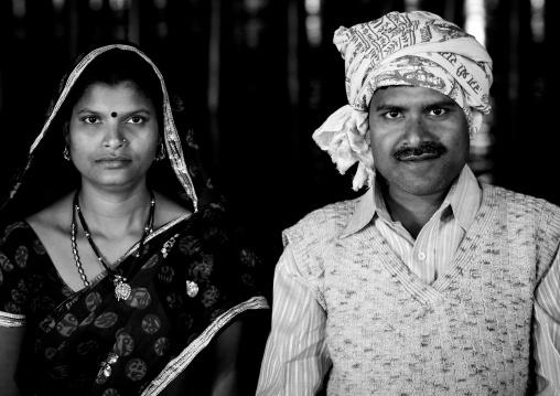 Pilgrims Couple At Maha Kumbh Mela, Allahabad, India