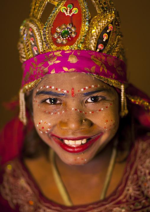 Young Girl With Shiva Make Up, Maha Kumbh Mela, Allahabad, India