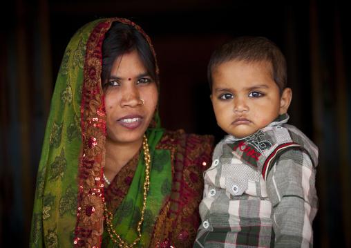 Mother And Baby, Maha Kumbh Mela, Allahabad, India