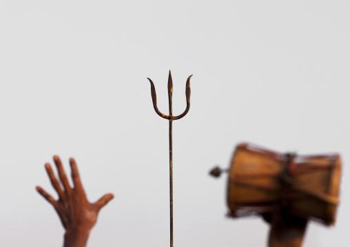 Trident And Drum, Maha Kumbh Mela, Allahabad, India