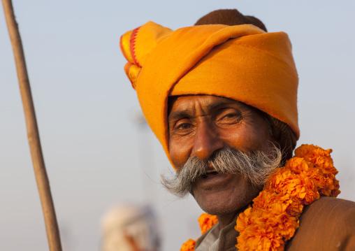 Pilgrim At Maha Kumbh Mela, Allahabad, India