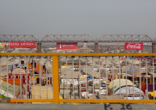 Hare Krishna Coca Cola Adverstising, Maha Kumbh Mela, Allahabad, India