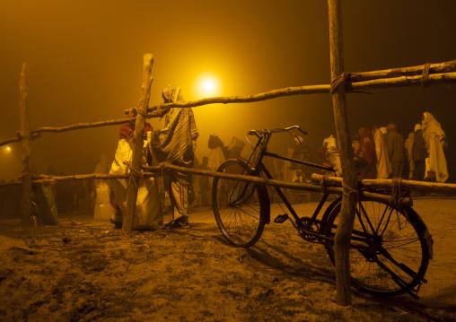 Pilgrims In The Fog, Maha Kumbh Mela, Allahabad, India