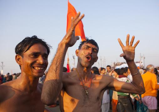 Pilgrims After The Bath, Maha Kumbh Mela, Allahabad, India