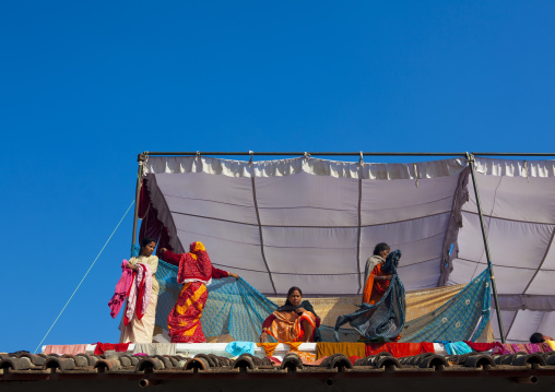Pilgrims In An Ashram, Maha Kumbh Mela, Allahabad, India