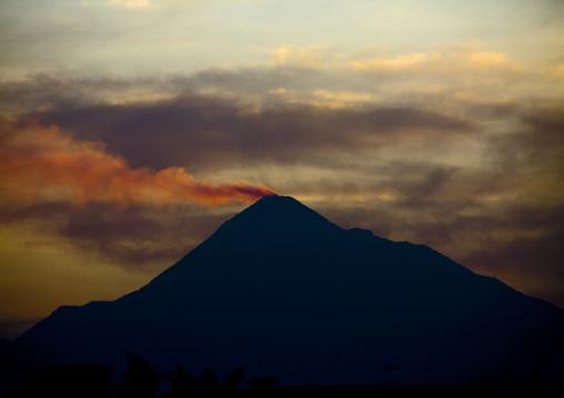 Merapi volcano in java island indonesia