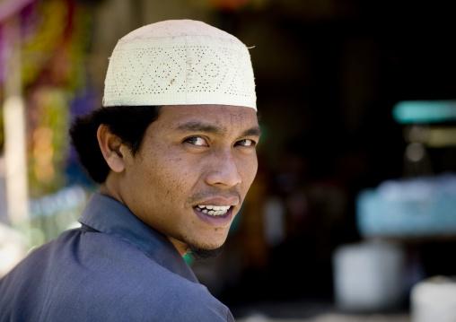 Man on market, Java island indonesia
