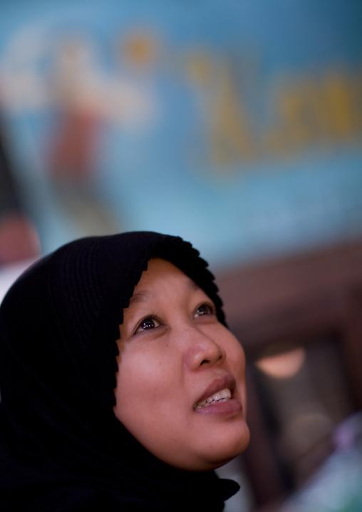 Muslim girl, Java island indonesia