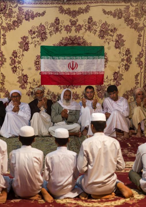 men during wedding celebrations, Qeshm Island, Tabl , Iran