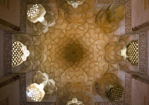 Ceiling with its intricate and elaborate patterns in jameh mosque, Isfahan province, Natanz, Iran