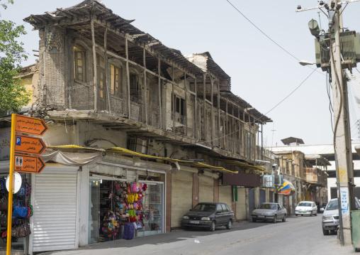 Old house with balcony, Fars province, Shiraz, Iran