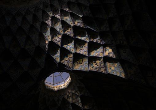 Ceiling of the old bazaar, Isfahan province, Kashan, Iran