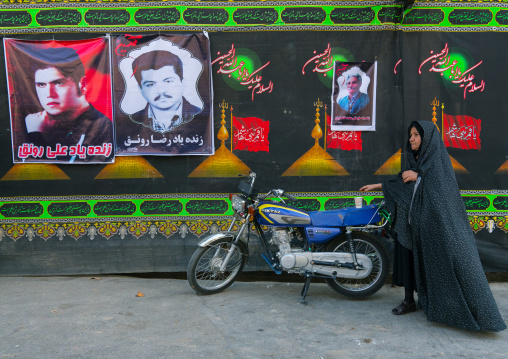 Iranian shiite muslim woman during the Ashura ceremony, Lorestan Province, Khorramabad, Iran