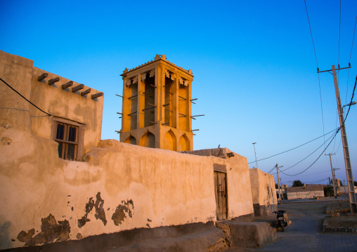 wind tower used as a natural cooling system in iranian traditional architecture, Qeshm Island, Laft, Iran