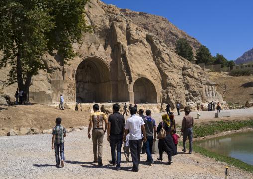 Tourists In Taq-e Bostan, Kermanshah, Iran