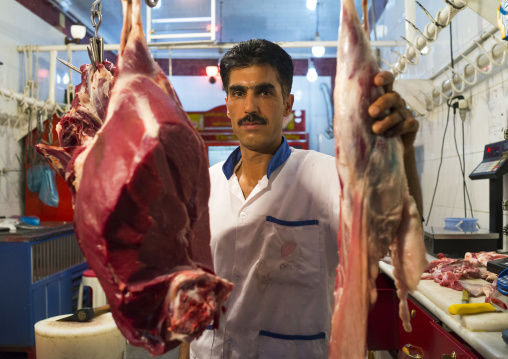 Butcher In The Bazaar, Kermanshah, Iran