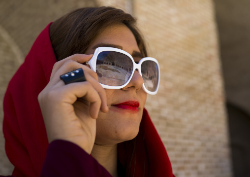 Woman With Sunglasses In Bisotun Site, Iran