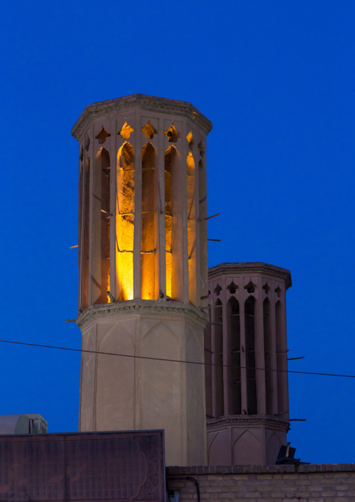 Wind Towers Used As A Natural Cooling System In Iranian Traditional Architecture, Yazd Province, Yazd, Iran