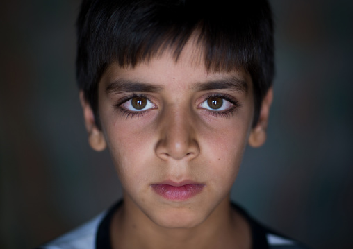 An Afghan Refugee Boy With Green Eyes, Isfahan Province, Kashan, Iran