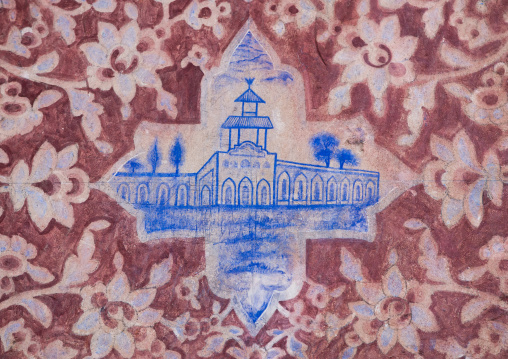 Detail Of A Painted Ceiling In Bagh-e Tarikhi-ye Fin Garden, Isfahan Province, Kashan, Iran