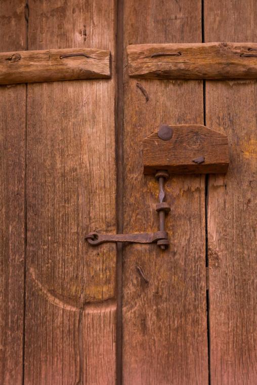 Ancient Door Locker In Zoroastrian Village, Isfahan Province, Abyaneh, Iran