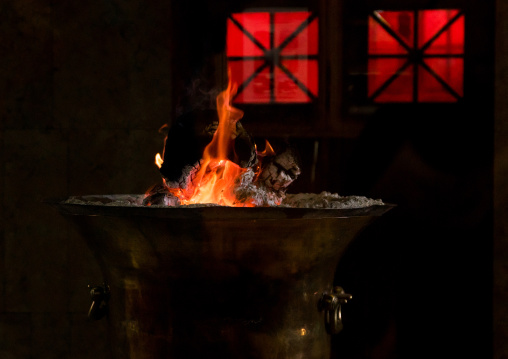 The Eternal Flame Which Has Burned Continuously For 1, 500 Years At The Zoroastrian Temple Of Ateshkade, Yazd Province, Yazd, Iran