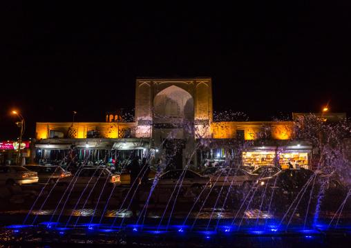 Amir Chakhmagh Square At Night, Yazd Province, Yazd, Iran