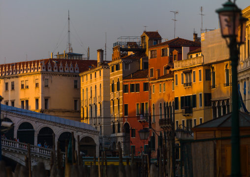 Old buildings over the grand canal, Veneto Region, Venice, Italy