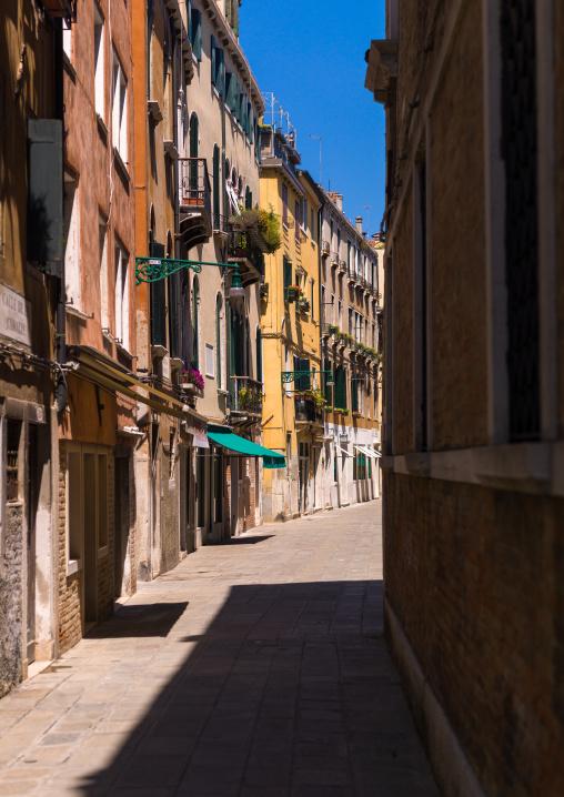 Street in the old town, Veneto Region, Venice, Italy