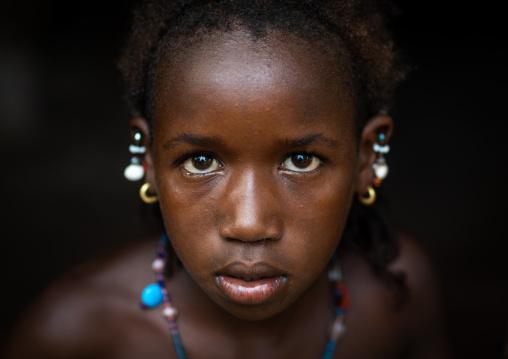 Portrait of a Peul tribe girl, Savanes district, Boundiali, Ivory Coast