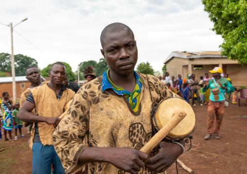 Senufo tribe musicians during the Ngoro dance, Savanes district, Ndara, Ivory Coast