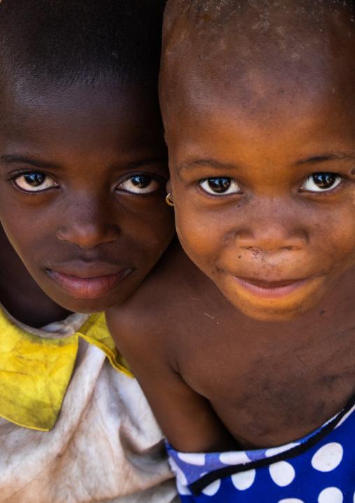 Portrait of two african children, Bafing, Godoufouma, Ivory Coast