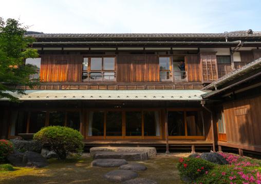 Garden of kyu asakura traditional japanese house from taisho era, Kanto region, Tokyo, Japan