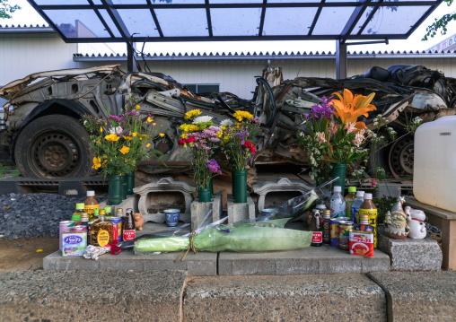 A shrine to police victims of the 2011 tsunami, Fukushima prefecture, Tomioka, Japan