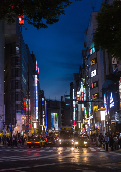 Illuminated shibuya, Kanto region, Tokyo, Japan